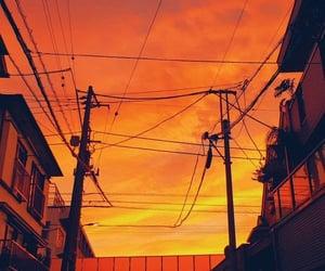 orange, street, and sunset image