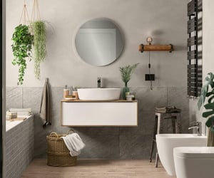 bathrooms, beautiful, and grey image