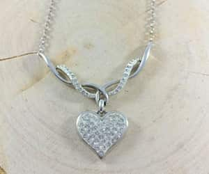 heart jewelry, sterling silver jewelry, and heart wedding necklace image