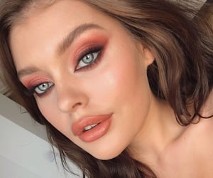 blush, orange, and bronzer image