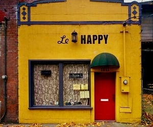 happy, shop, and yellow image