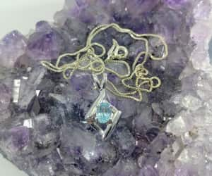 etsy, blue jewelry, and natural gemstone image