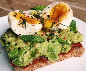 avocado, bread, and breakfast image