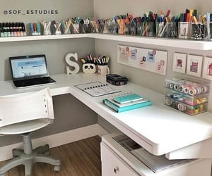 desk, room, and study image