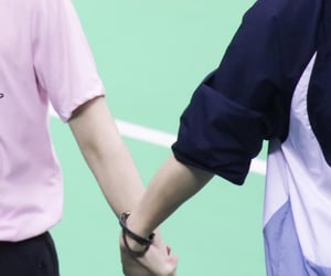 hand holding, hands, and ten image