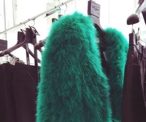 fashion, fur, and green image