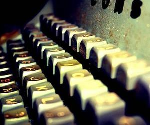 letters, writer, and typewriter image