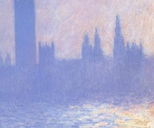 art, blue, and monet image