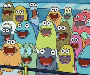 audience, reaction, and spongebob image