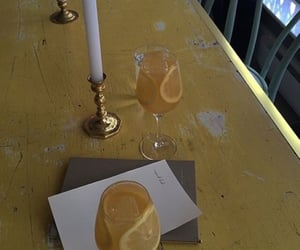 lemon, candles, and drinks image