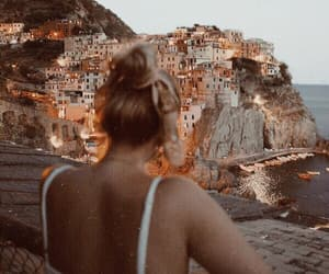 girl, italy, and lights image