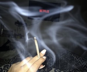 netflix, weed, and smoke image