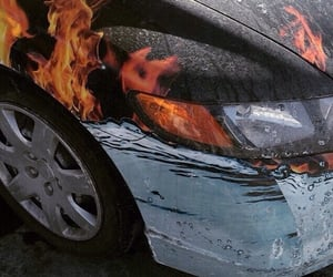 theme, car, and flame image