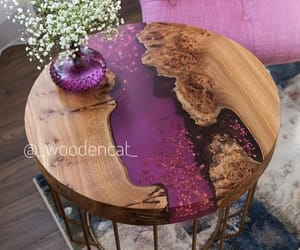 art, epoxy, and table image