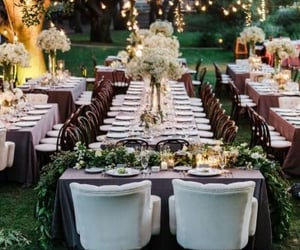 beauty, centerpiece, and reception image