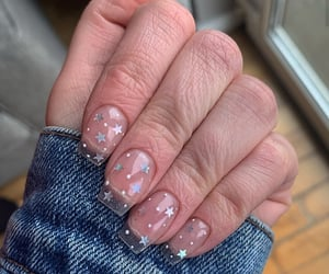clear, nails, and stars image