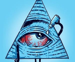 eye, illuminati, and blue image