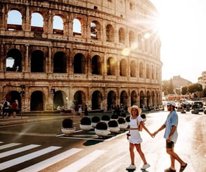 adventure, couple, and italy image