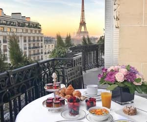 paris, summer, and breakfast image