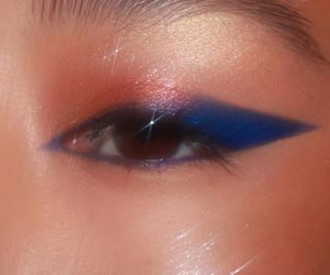 blue, eyeshadow, and glitter image
