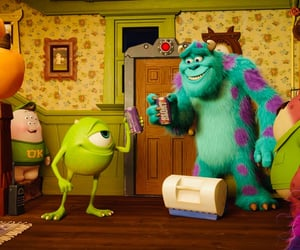 disney, sulley, and mike image