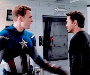 captain america, iron man, and stony image