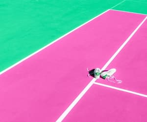colors, pink, and tennis image