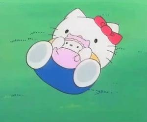 cartoon and hello kitty image