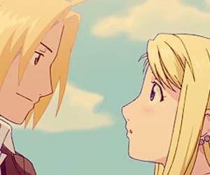 anime girl, blush, and couple image