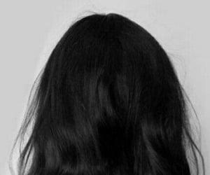 black hair, girl, and hair image