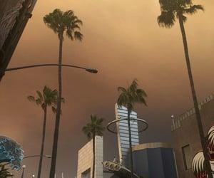 sky, tumblr, and city image