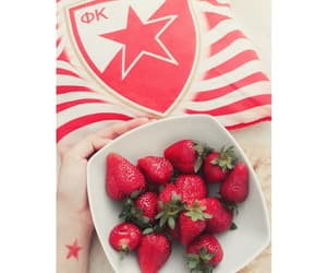red star, strawbarry, and red love image