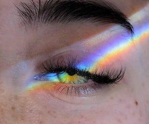 eyes, girl, and green image