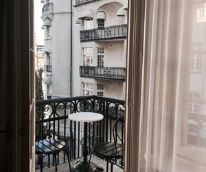 balcony, apartment, and city image