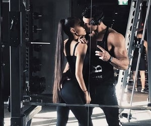 couple, fitness, and inspiration image