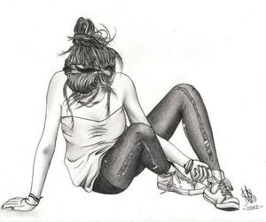 all stars, girl cute, and black and white image