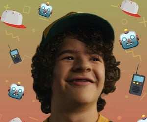 dustin, wallpaper, and stranger things image