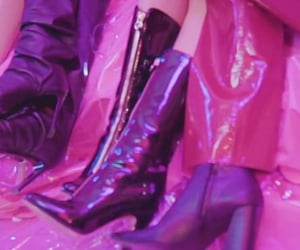 high heels, neon, and pink image