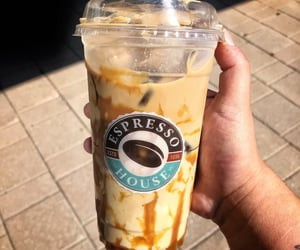 caramel, coffee, and cold image