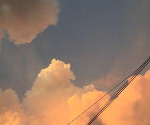 cloud, nature, and orange image