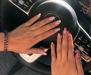 benz, finger, and girl image