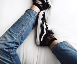 fashion, vans, and blue image