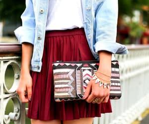 fashion, skirt, and bracelets image