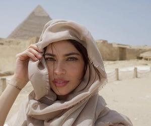 brunette, egypt, and girl image