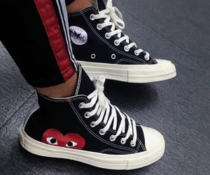 sneakers, black, and converse image