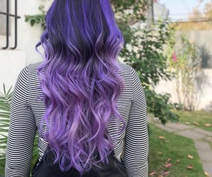 glam, hair, and lilac image
