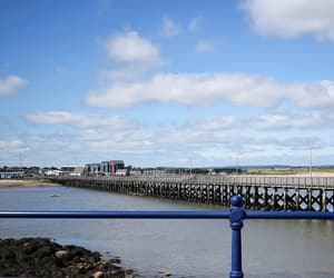 beach, harbour, and Northumberland image