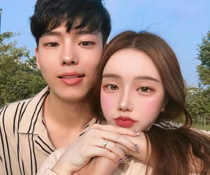 asian, beautiful, and couple image