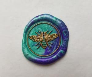 art, bee, and purple image