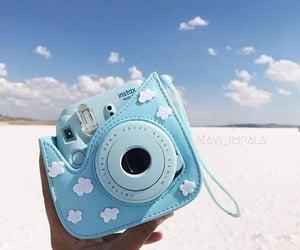 blue, camera, and sky image